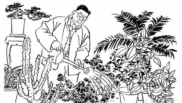 手绘芭蕉树叶子简笔画