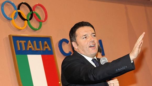 曾宣布罗马申办2024年奥运会.(图片来源:视觉中国)-意大利罗