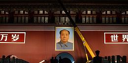 【图集】迎国庆 天安门点亮花灯城楼更换毛主席像