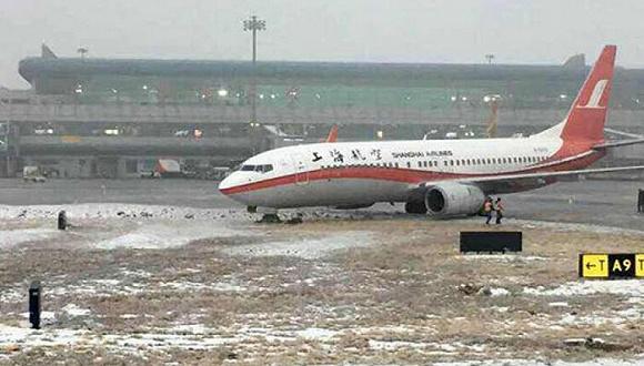 是什么让上航 南航飞机在乌鲁木齐机场都滑出跑道