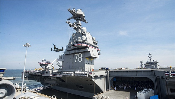 """母舰""""杰拉德-福特""""号正式服役.图片来源:东方IC-揭秘 更加 人性图片"""