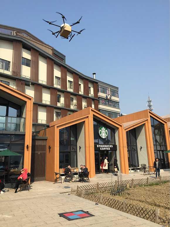 無人機可以進城送咖啡了!我們去現場體驗了下