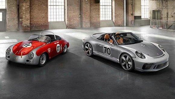 保时捷70周年的庆典上 mission e正式命名和911 speedster概念车亮相