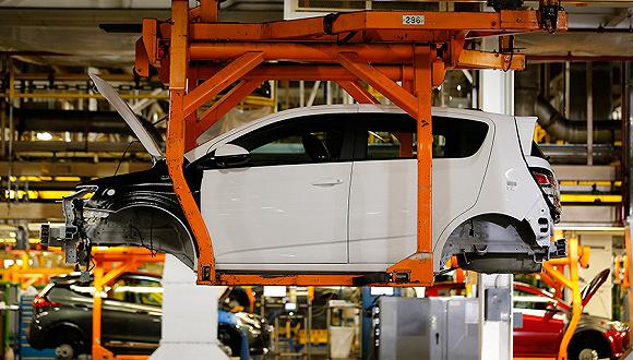 2017年6月13日,通用汽车公司位于美国密歇根州的猎户座组装厂.