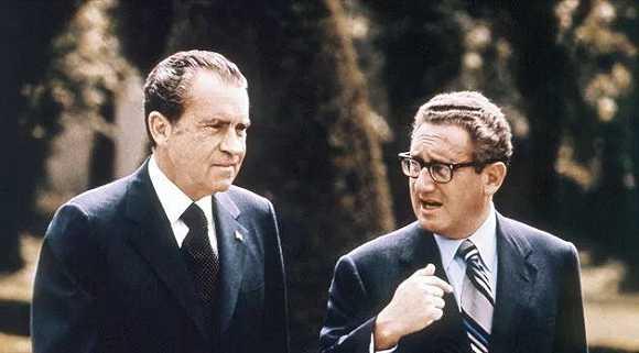 ▲ 尼克松与基辛格