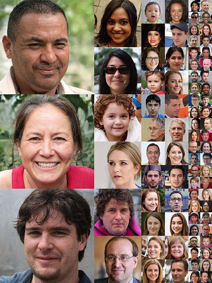 人脸未修图素材