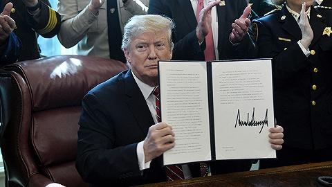 特朗普初次行使总统否决权采纳国会决定:你们有自在,我有义务