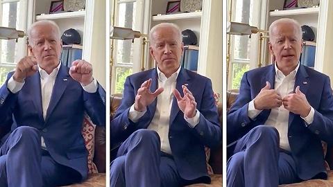 """拜登视频回应""""行为不端""""指控,借机暗示将参选总统"""