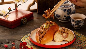 """首家喜茶热麦店来了?#26412;?#20116;?#30431;桑?#22810;款限定面包和限定茶极""""京桂""""上线"""