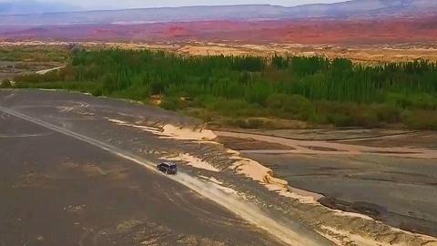 锦绣中华·大美山川·发现新疆   航拍视角俯瞰新疆大地 遗落?#24605;?#30340;调色板