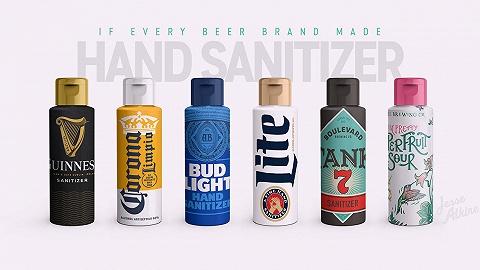 """品牌logo""""被分开""""后,创意人又帮百威、科罗娜设计了洗手液包装"""