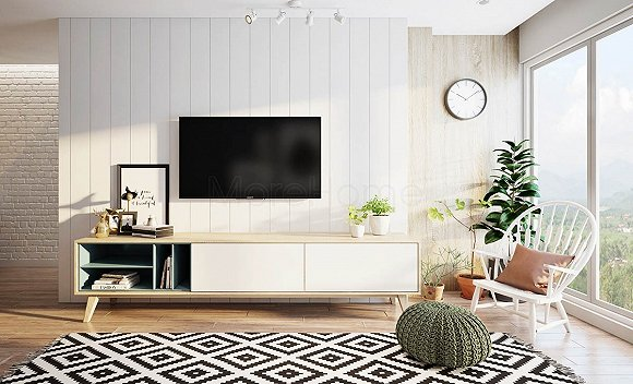 两块木板简单电视柜