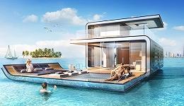 """涉水的漂浮屋并没有过时 迪拜要建42座半水下的""""漂浮海马"""""""