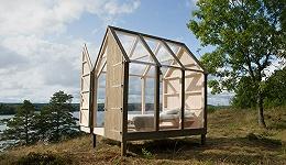 """瑞典旅游局在小岛上造了5间""""减压玻璃屋"""" 说住一住幸福感陡增"""