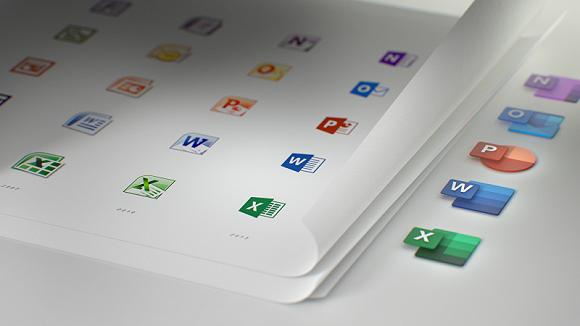 微软Office换了新的图标 这是近5年来第一次