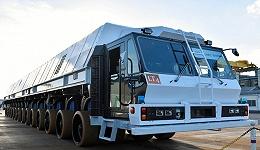 【工业之美】这辆有56个轮子的火箭运输车,停车精度误差只有25毫米