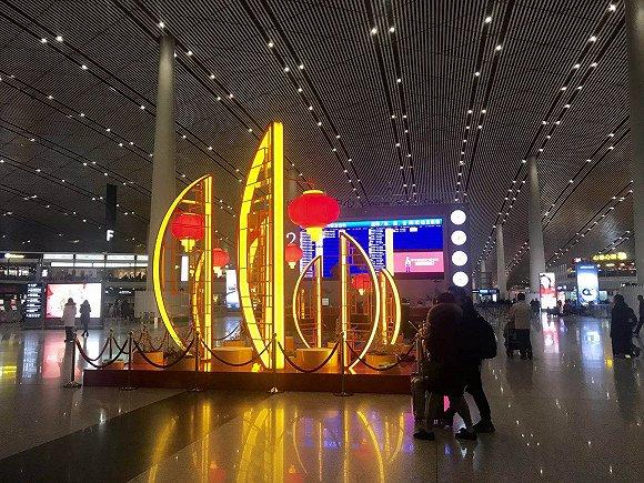 春节前最后一个工作日,首都机场每50秒就有一架航班起降