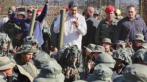 委内瑞拉史上规模最大:马杜罗启动军演模拟击退侵略者