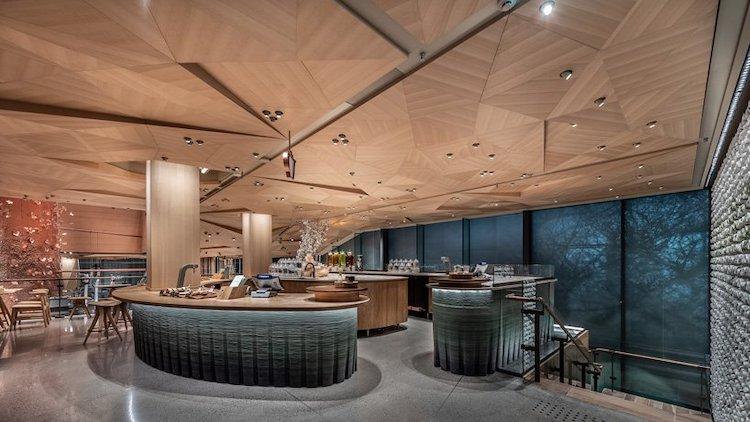 在全球最大星巴克烘焙工坊赏樱是种怎样的体验?