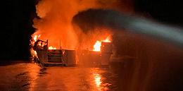 美国加州一潜水船深夜失火,恐造成甲板下34名乘客遇难