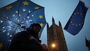 """欧洲议会表决经过过程:清除没有""""备份安排""""的脱欧协定"""