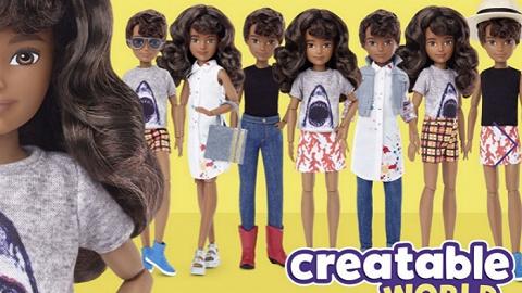 """芭比娃娃品牌美泰首次推出""""无性别""""系列玩偶"""