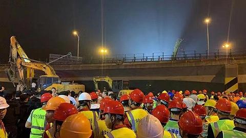 無錫高架橋垮塌,該路段曾于7月招標改造