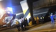 【图集】直击江苏无锡高架桥侧翻事故救援现场