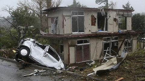 剛地震完臺風又來,日本多處沿海潮位達史上最高