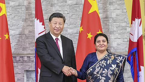 視頻 習近平會見尼泊爾總統