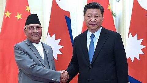 視頻 習近平同尼泊爾總理會談