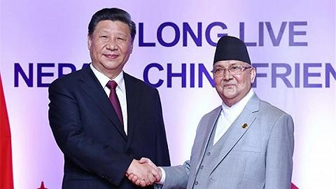 圖解習近平同尼泊爾總理奧利會談