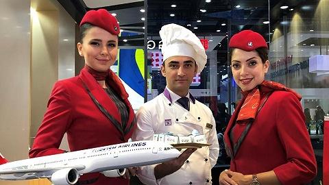 外国航空公司进博会现场