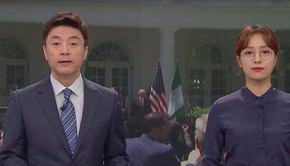 林贤珠在新闻播报中戴眼镜时震惊了韩国。YouTube /世界