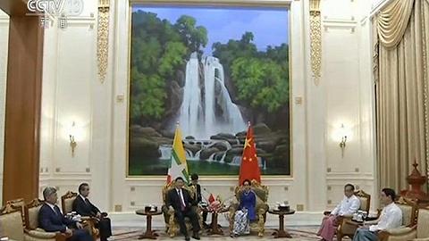 習近平會見緬甸國務資政