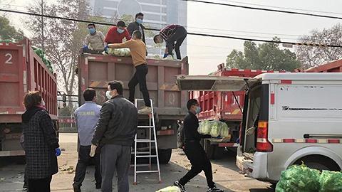 汶川村民自发支援武汉100吨蔬菜