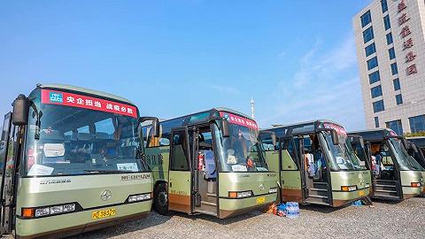 【特写】开往上海的复工专车