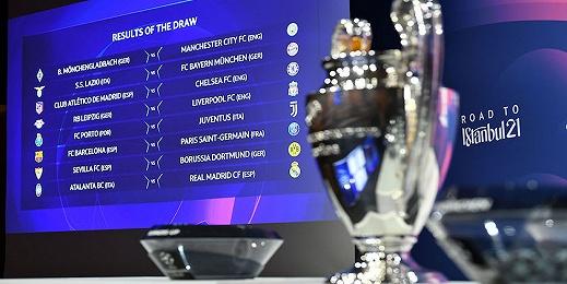 歐冠16強對陣揭曉,巴薩和大巴黎又相遇了