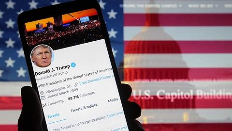 """双赢?封杀特朗普后Twitter用户上涨,特朗普比以前""""更快乐"""""""