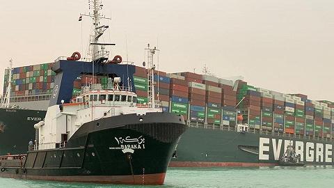 """搁浅巨轮如何""""营救""""?苏伊士运河堵塞威胁全球贸易"""