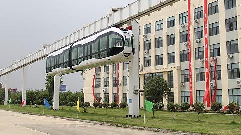"""三面透明""""空中列车""""下线,悬挂式单轨第一城会是成都吗?"""