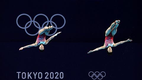 中国军团   跳水双人3米板施廷懋/王涵夺冠,中国代表团第四金收入囊中