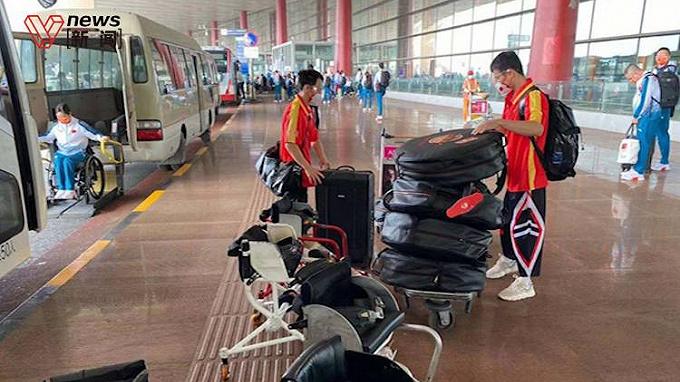 中国代表团出征残奥会,首批队伍已达东京