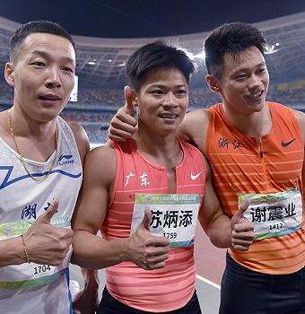 奥运联合队统治全运百米接力,男女接力天团均夺魁