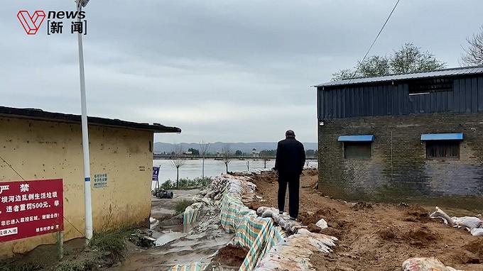 记者实地探访山西新绛县,汾河洪峰过后水流平稳
