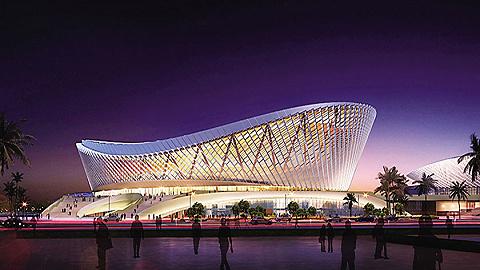 海口五源河文体中心(二期)体育馆将具备举办国际赛事能力
