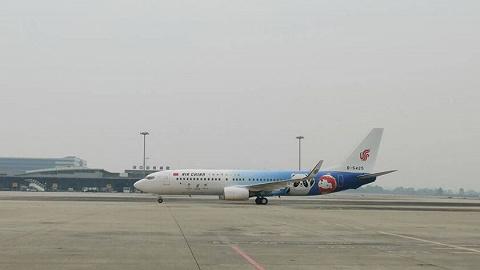 冬奥会主题彩绘客机成功首航成都