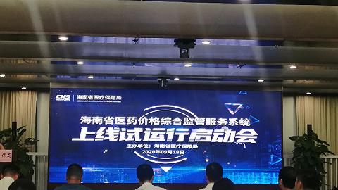 海南省医药价格综合监管服务系统正式上线试运行