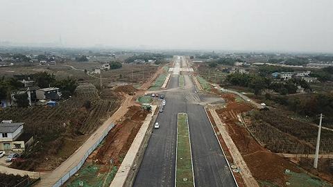 大运直联道路正紧张施工,预计今年3月通车