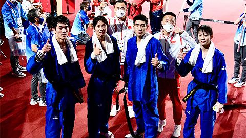 海南跆拳道选手高盼东京奥运会表演赛夺冠